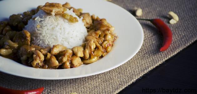 طريقة عمل الأرز والدجاج