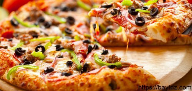 طريقة عمل البيتزا سوبر سوبريم