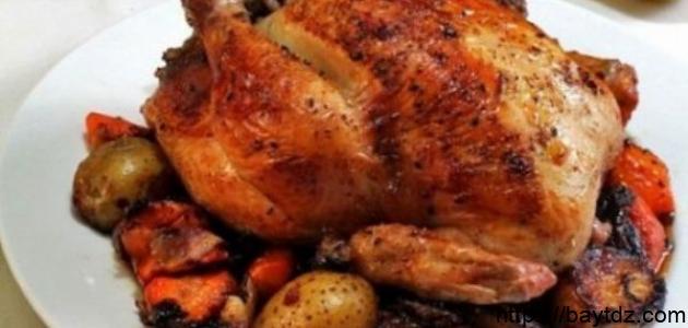 طريقة عمل الدجاج المحشي بالخضار