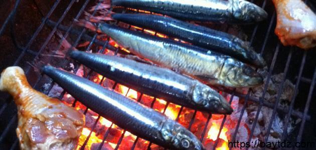 طريقة عمل السمك المشوي على الفحم