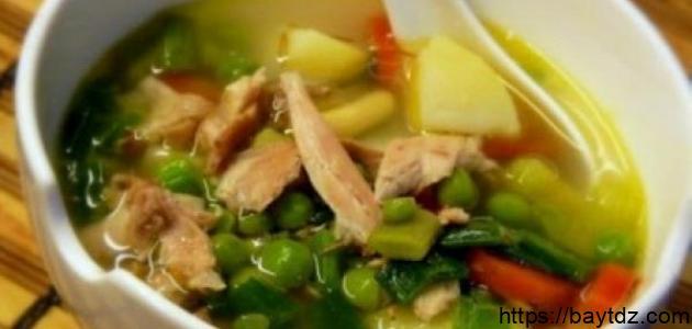 طريقة عمل حساء الدجاج