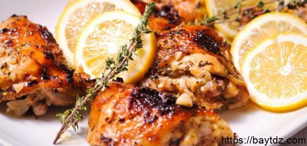 طريقة عمل دجاج بالثوم والليمون