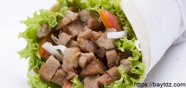 طريقة عمل ساندويش شاورما الدجاج