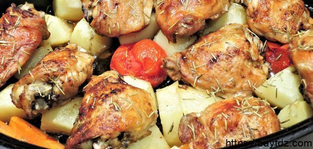 طريقة عمل صينية دجاج وبطاطس