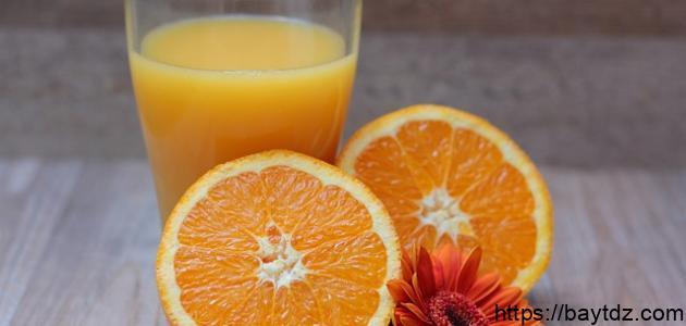 طريقة عمل عصير البرتقال في الخلاط