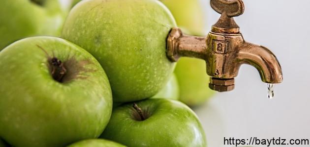 طريقة عمل عصير تفاح طازج