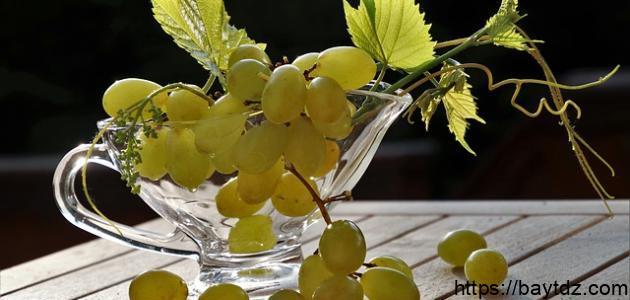 طريقة عمل عصير عنب طبيعي