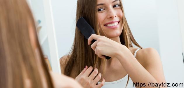 طريقة فرد الشعر بالبروتين في المنزل