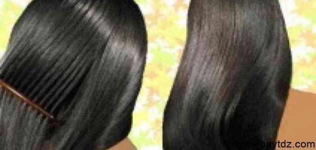 طريقة لتنعيم الشعر وتطويله