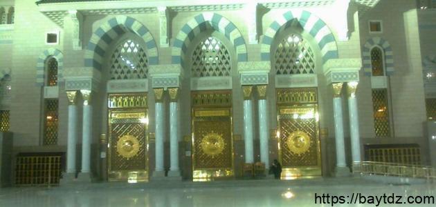 عدد أبواب المسجد النبوي