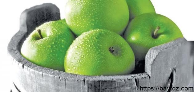 عدد السعرات الحرارية في التفاح الأخضر