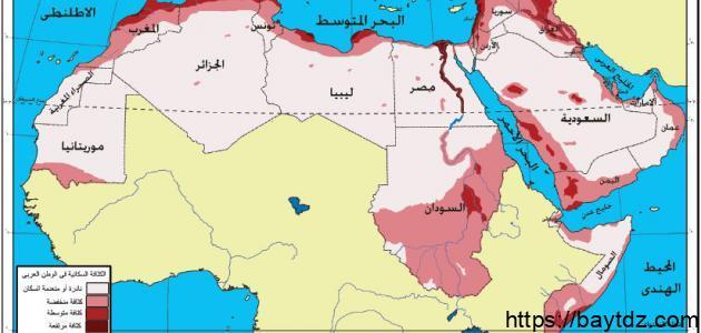 عدد سكان الوطن العربي