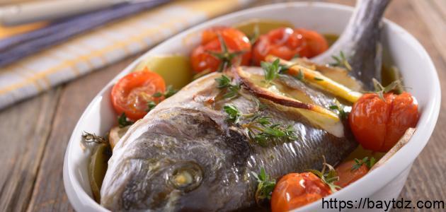 عمل سمك بالفرن