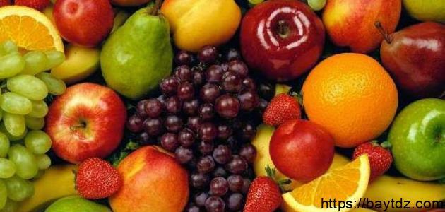 فوائد أكل الفواكه