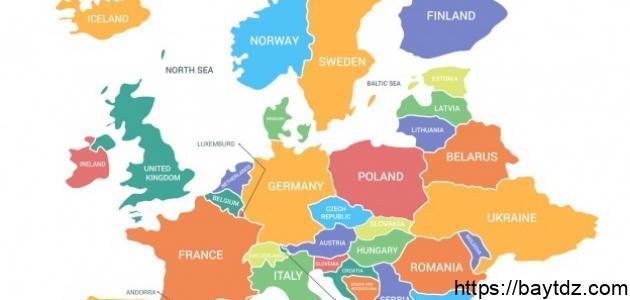 كم عدد الدول في أوروبا