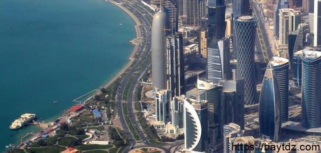 كم مساحة قطر