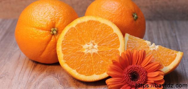 كم نسبة فيتامين ج في حبة البرتقال