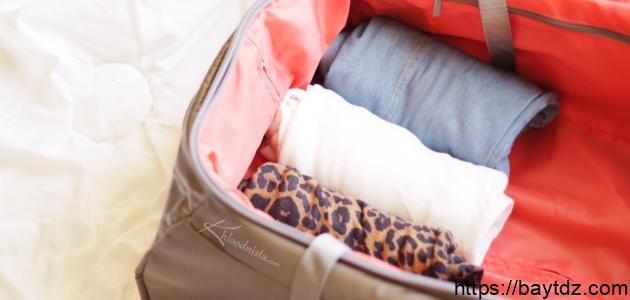 كيف أرتب حقيبة السفر