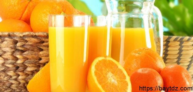 كيف أعمل عصير برتقال