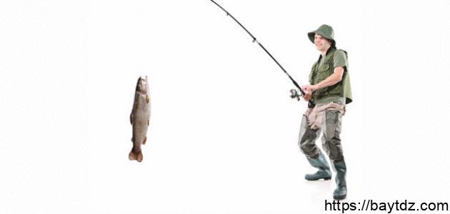 كيف تصنع سنارة صيد السمك