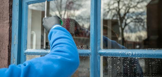 كيفية تلميع الزجاج والمرايا
