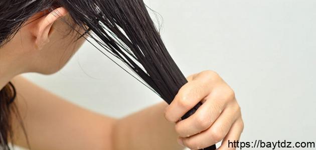 كيفية جعل الشعر رطباً