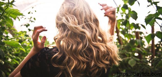 كيفية جعل الشعر مموجاً