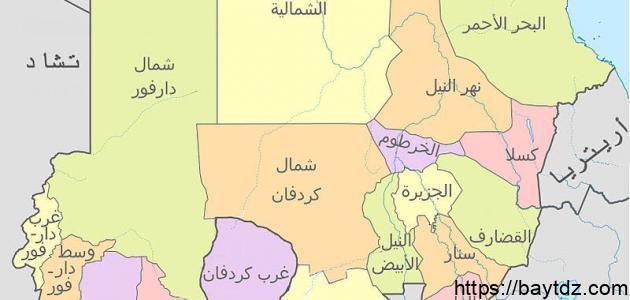 ما عدد الدول العربية التي لها حدود مشتركة مع السودان