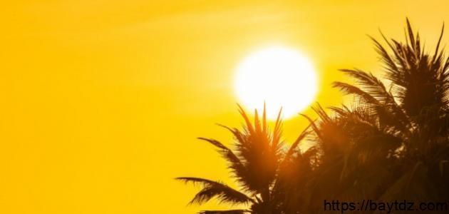 ما هو لون ضوء الشمس