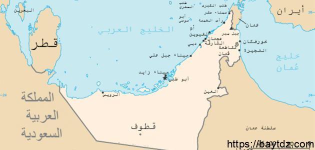 ما هي مساحة الإمارات العربية المتحدة