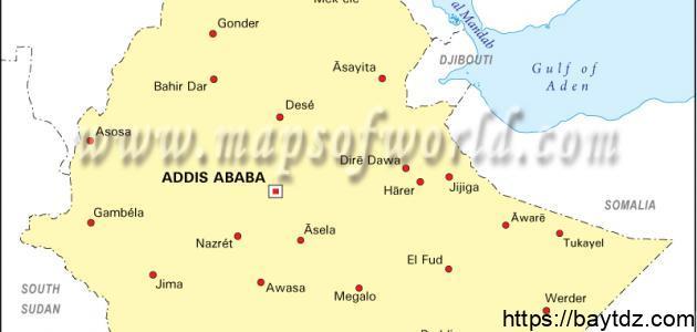 مدن إثيوبيا