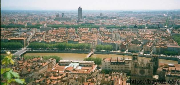 مدينة ليون بفرنسا