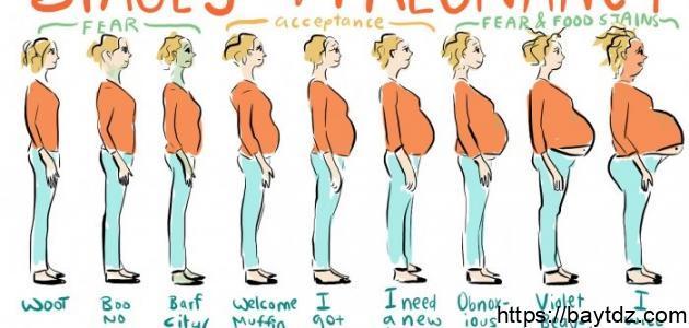 مراحل الحمل في الشهر السابع