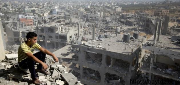مساحة غزة وعدد سكانها