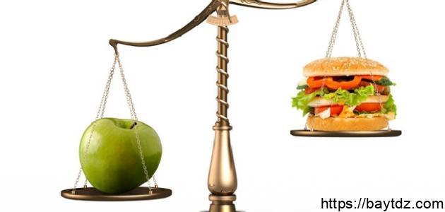 مفهوم الغذاء المتوازن