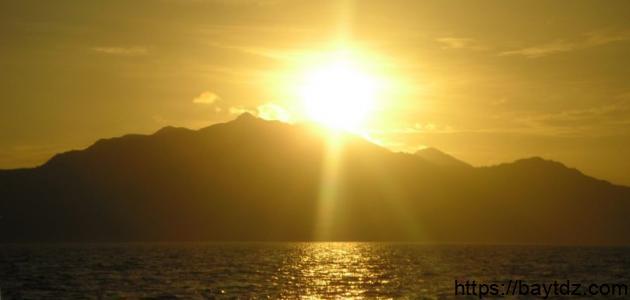 مقال عن غروب الشمس