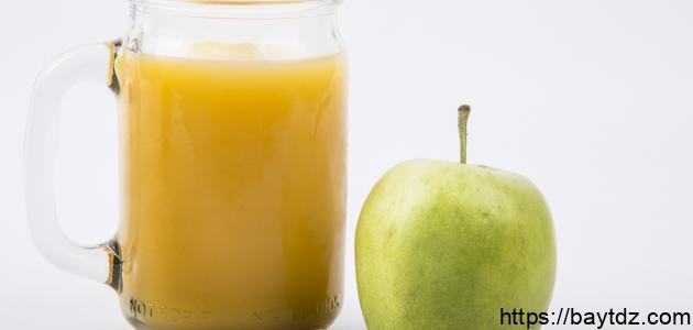 مكونات عصير التفاح