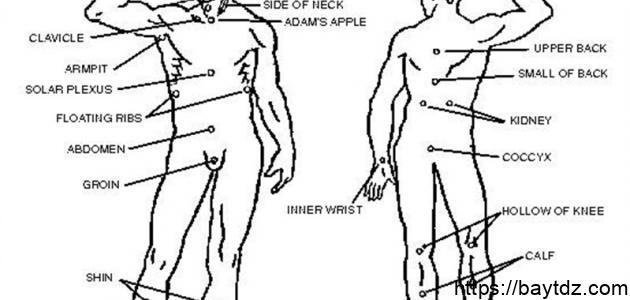 نقاط الضغط في جسم الإنسان
