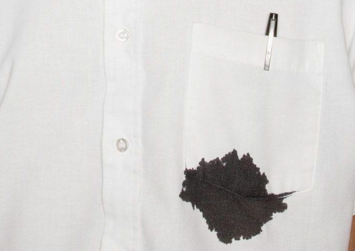 ازالة الحبر من الملابس