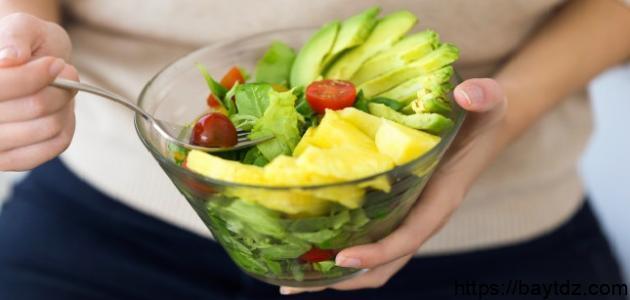 الاطعمه التي لا يوجد فيها بروتين