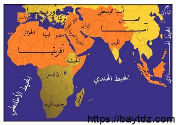 خريطة العالم الاسلامي بالتفاصيل