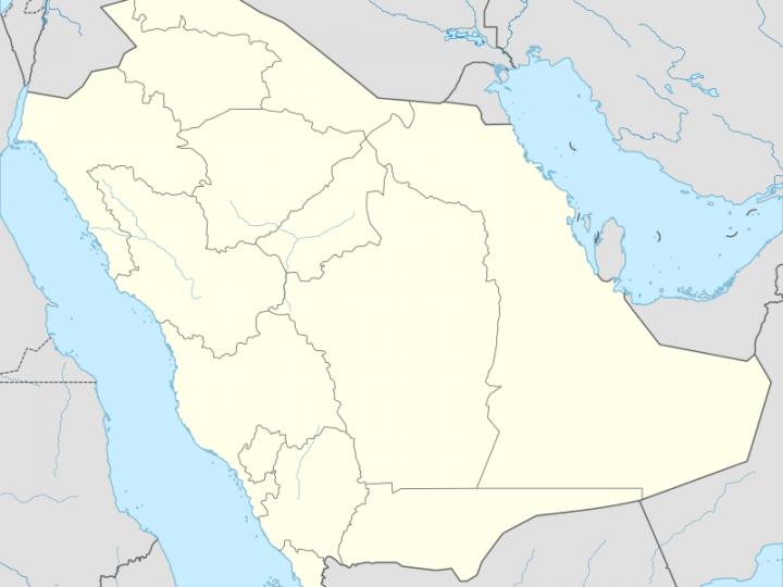 خريطة تيماء و الرمزي البريدي الخاص بها