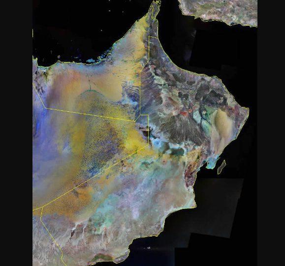 خريطة سلطنة عمان بالأقمار الصناعية