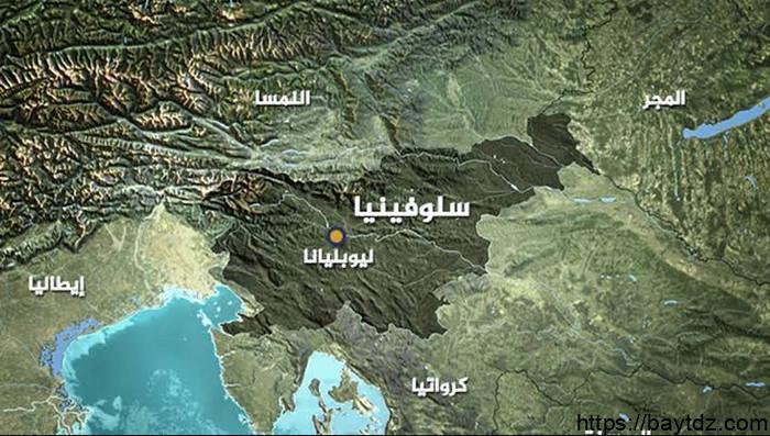 خريطة سلوفينيا بالعربي