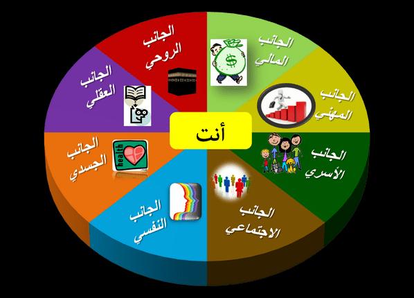 شرح تمرين عجلة الحياة لتحديد الأهداف