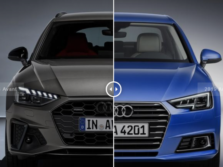 مقارنة بين اودي A4 2020 و 2019 بالصور