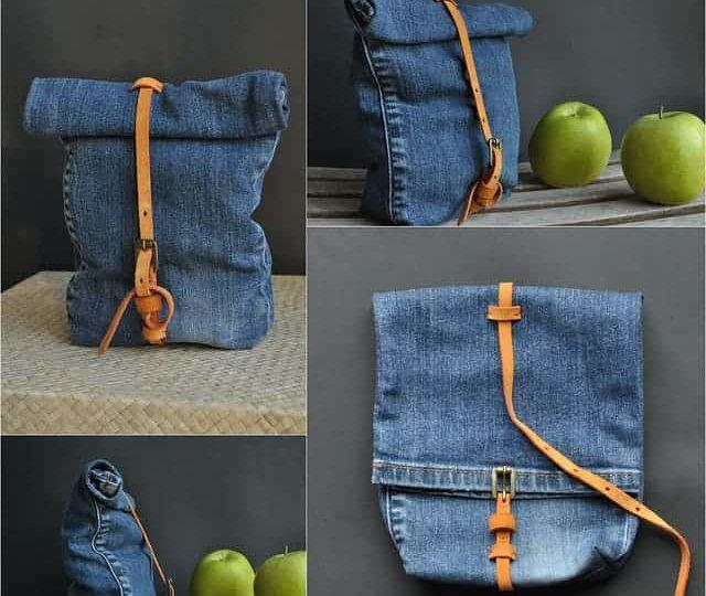 خياطة حقيبة لتخزين الاطعمة بالاعتماد على الجينز القديم
