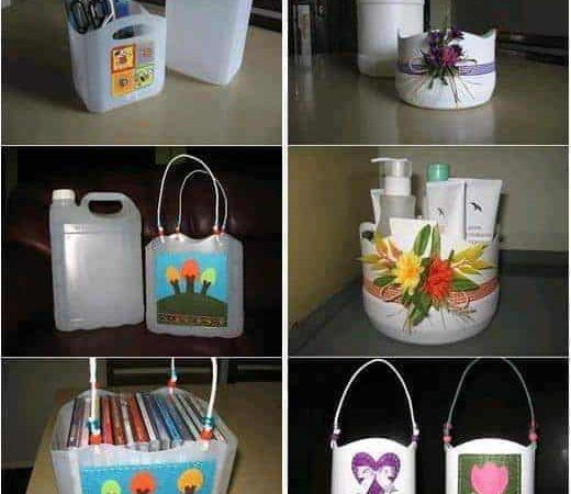 اعمال فنية جميلة ومفيدة بالعلب والزجاجات مع شرح لطريقة العمل